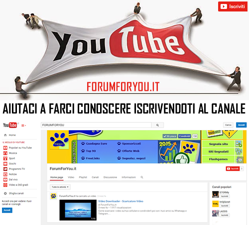 Canale Youtube di ForumForYou.it