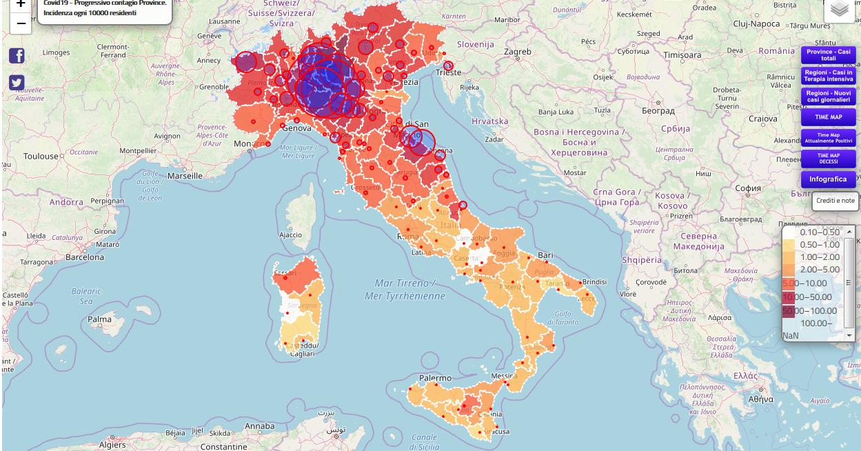 Coronavirus COVID 19 - quanti contagiati in Italia