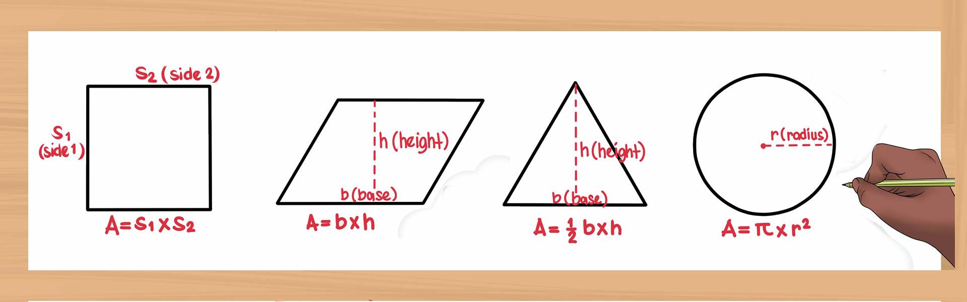 Come calcolare l' area di un quadrato, di un triangolo, di un rettangolo, di una sfera
