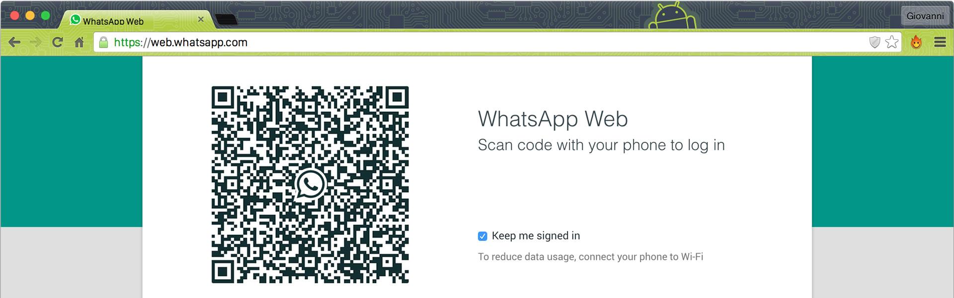 WhatsApp Web. Ecco come Fare