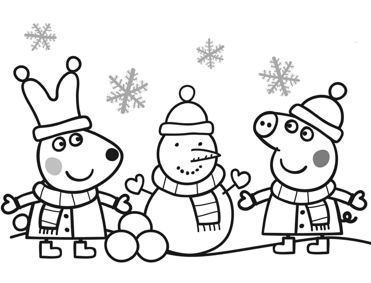 Peppa pig disegni per bambini for Lepre immagini da stampare