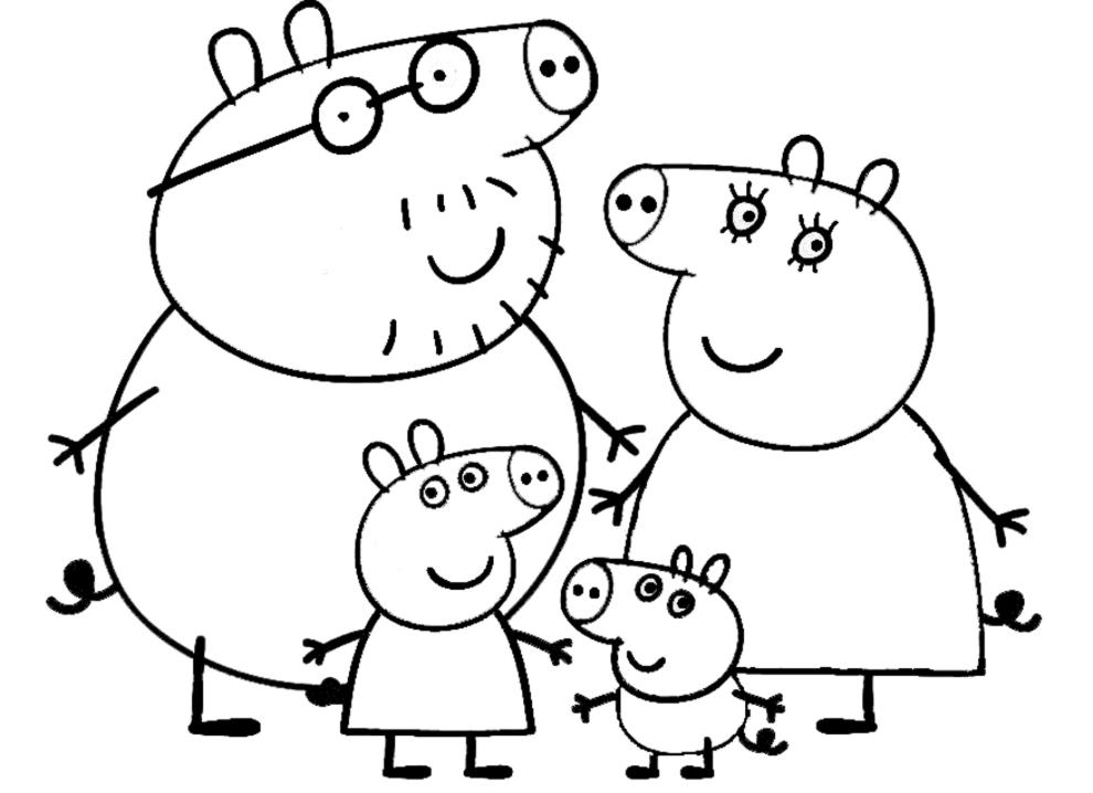 Disegni Da Colorare Peppa Pig Forumforyou It